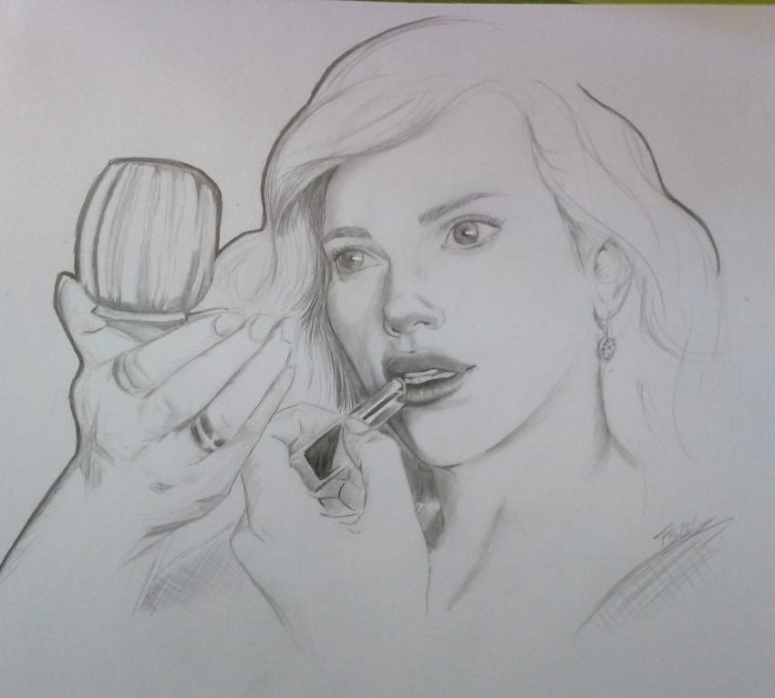 Scarlett Johansson by 13thmonkey